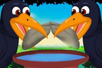 The Thirsty Crow Story Sinhala Cartoon