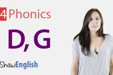 English Phonics Consonants d & g
